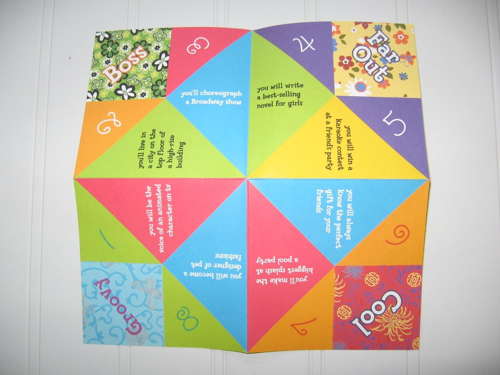 Fortune Teller Origami Printable