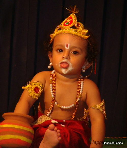 butter pot krishna fancy dress idea