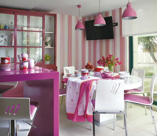 Sala De Estar Branca E Rosa ~ Construindo Minha Casa Clean Colorido na Decoração!!! Aprenda mais