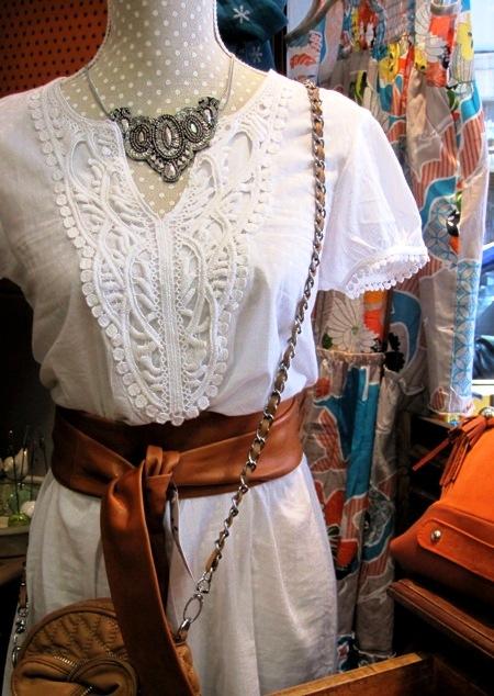 Vestido blanco verano manga corta