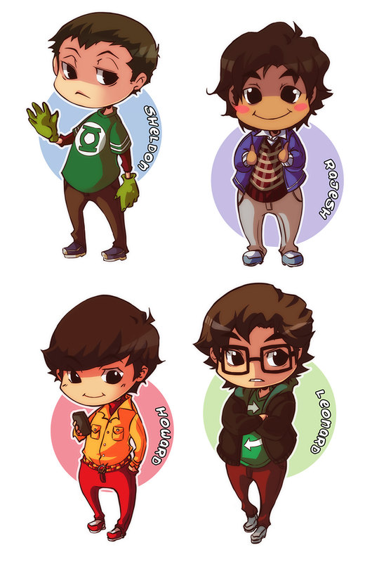 The Big Bang Theory Chibis por XMenouX