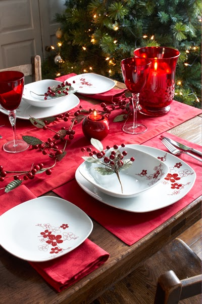 Christmas table decoration in red part 4 - Mesas decoradas para navidad ...