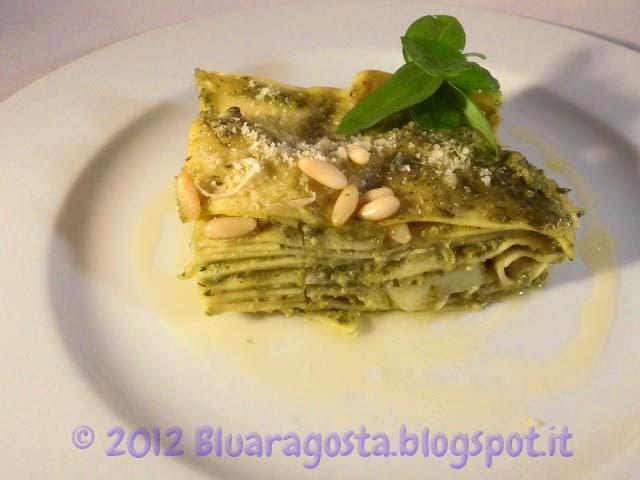 lasagne al pesto, o lasagne portofino