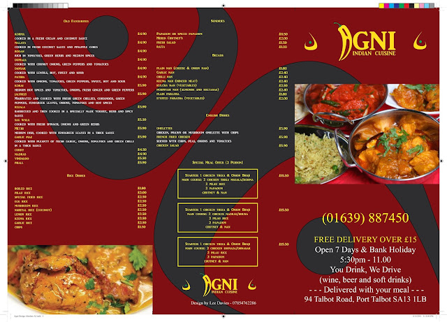 Graphic design by ldmedia for Agni indian cuisine