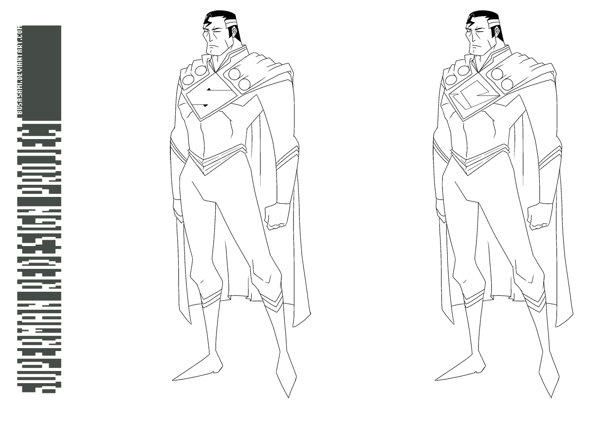 RACKET-PUNCH!: Superman Redesign Template 2