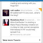 Retweeted by E! News Host Catt Sadler!