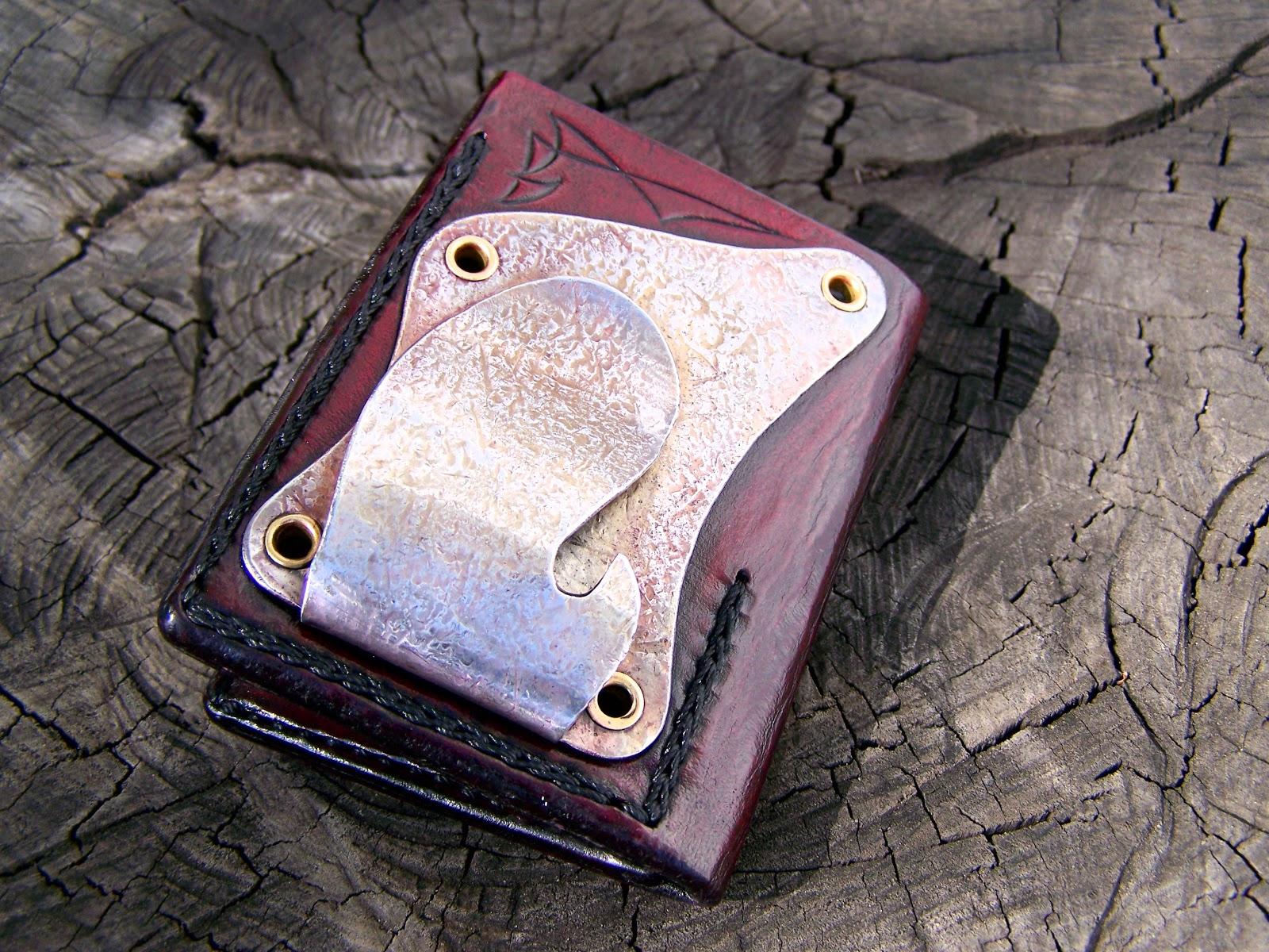 moody 39 s garage custom wallet w money clip and bottle opener. Black Bedroom Furniture Sets. Home Design Ideas