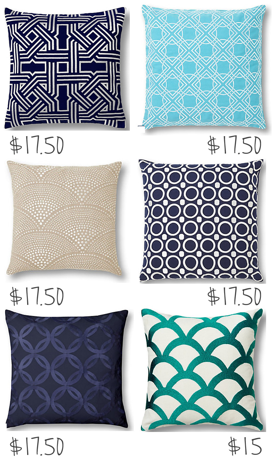 Olive Lane: Graphic Prints + Throw Pillows + Bargain = Love