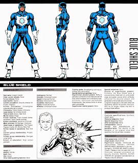 Escudo Azul Ficha Marvel Comics