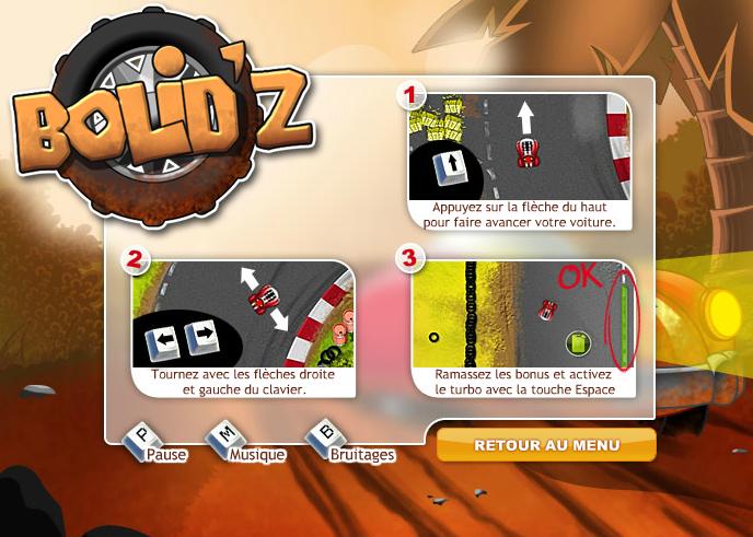prizee tous les jeux bolid z le tout nouveau jeu flash de courses sur prizee. Black Bedroom Furniture Sets. Home Design Ideas