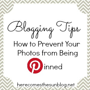 Here Comes the Sun: How to Prevent Your Photos from Being Pinned on Pinterest