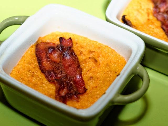 Flan de carottes au lard croustillant