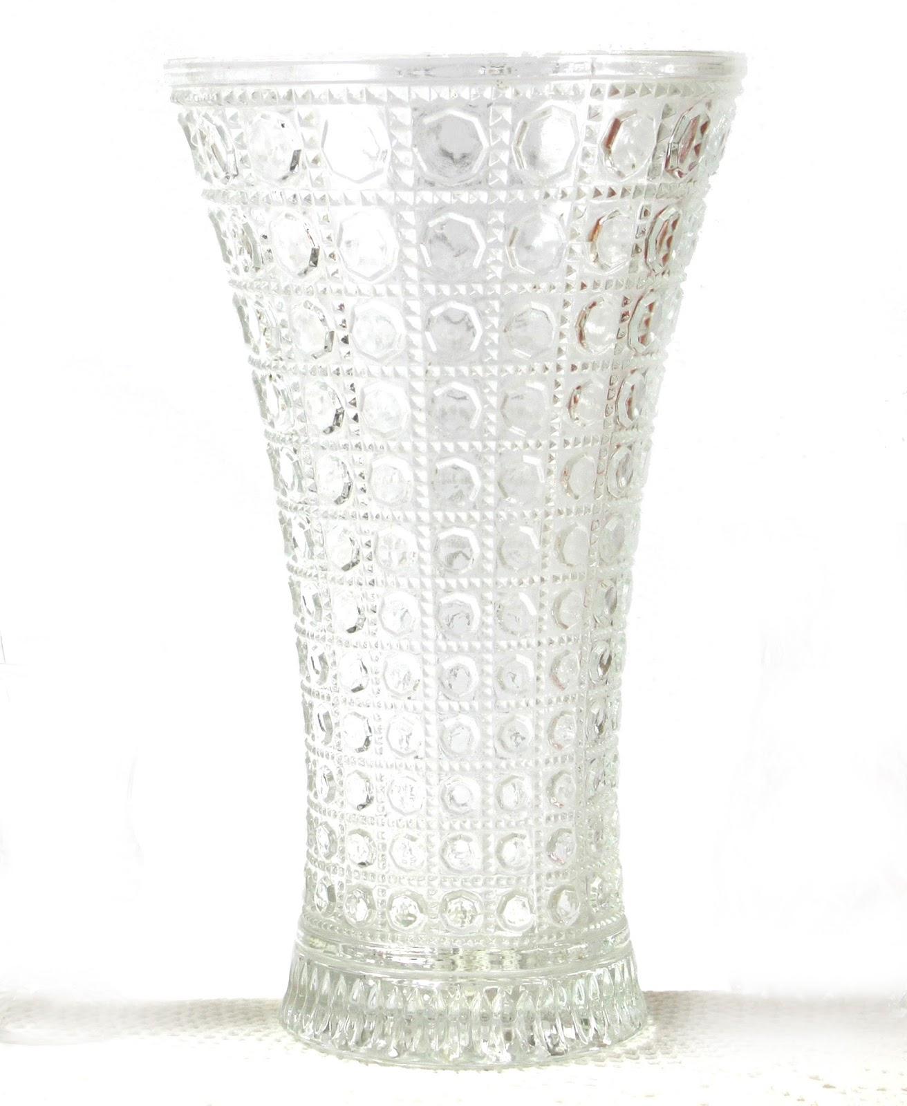 Little vintage days vases bottles and jars vintage cut glass large vase 30cm high reviewsmspy