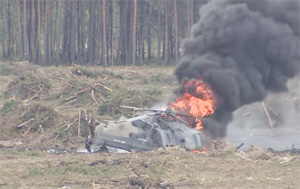 FIRST VIDEO: Moment helicopter crashes at airshow in Russia, pilot escapes burning cockpit
