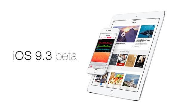 Download iOS 9.3 Beta 1: (Build: 13E5181d)