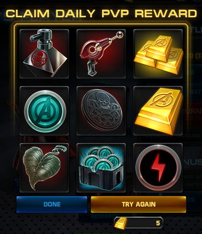 Avengers alliance daily roulette