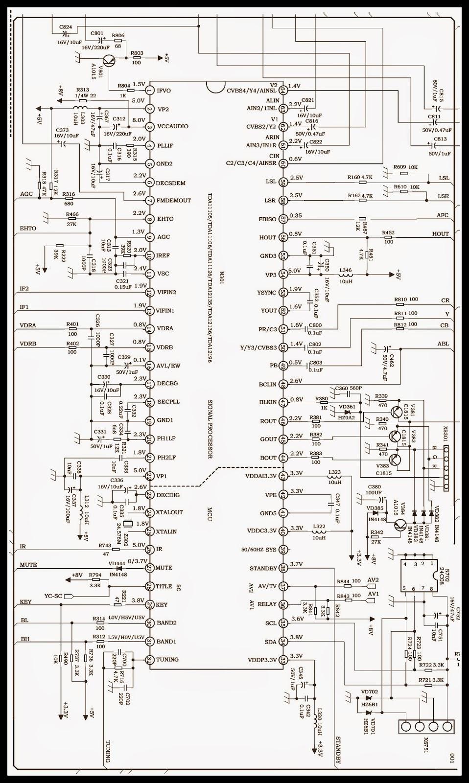 str w6553a smps schematic tda11106 schematic pin voltages