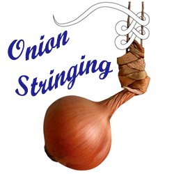 how to string an onion