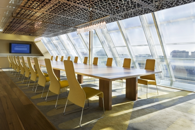 Photo of conference room with glass windows
