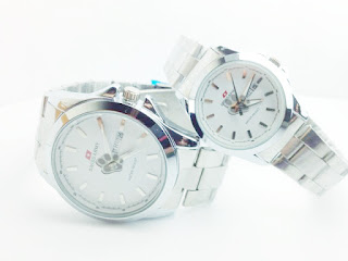 Swiss Army Couple Gave 79 Gave (Silver White), Jam tangan couple harga murah grosir online | Stylengo.biz