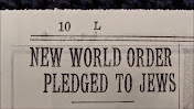 "New York Times Headline, Oct. 6, 1940: ""NEW WORLD ORDER PLEDGED TO JEWS"" (by racist British Empire)"