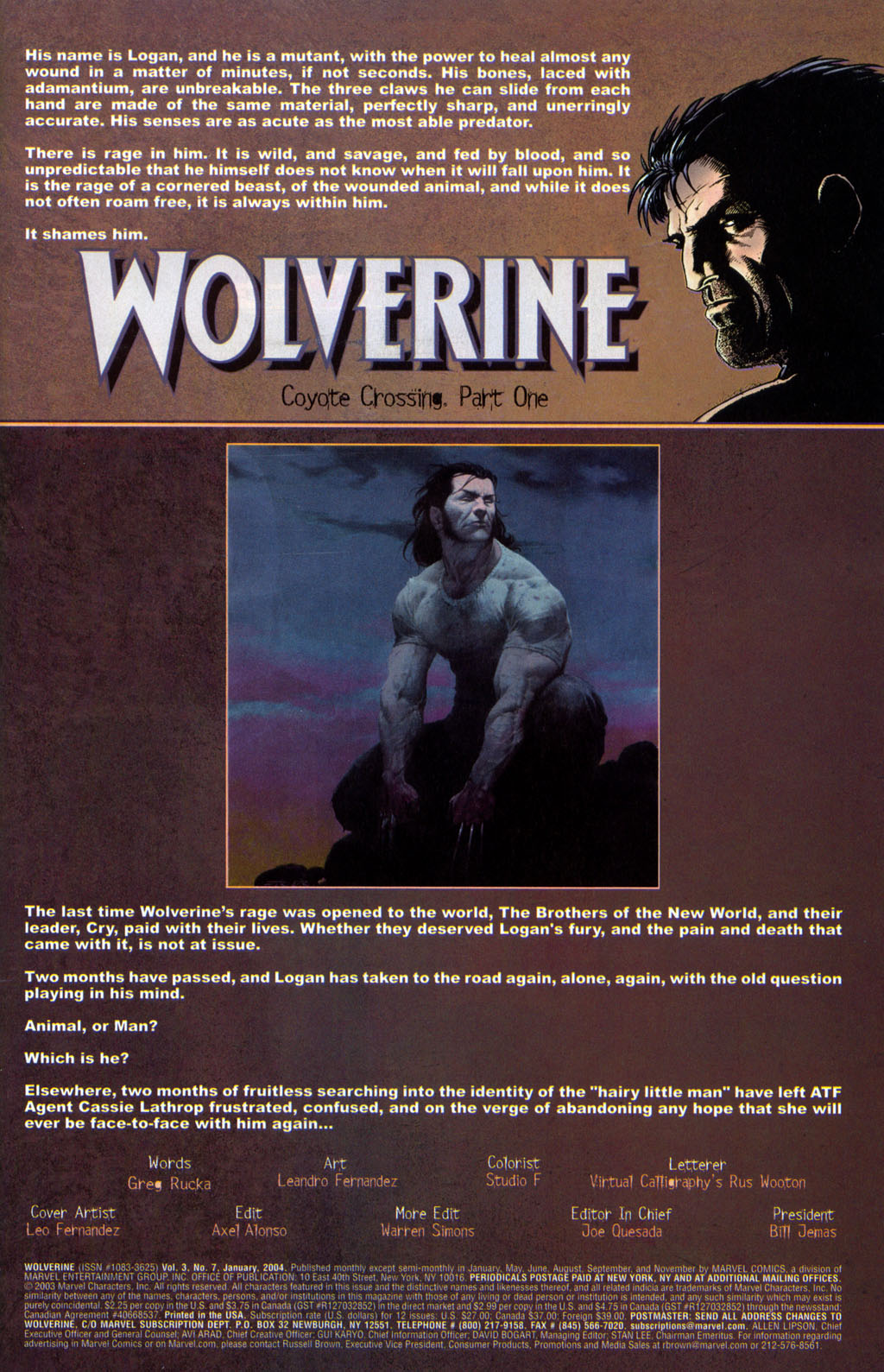 Read online Wolverine (2003) comic -  Issue #7 - 2