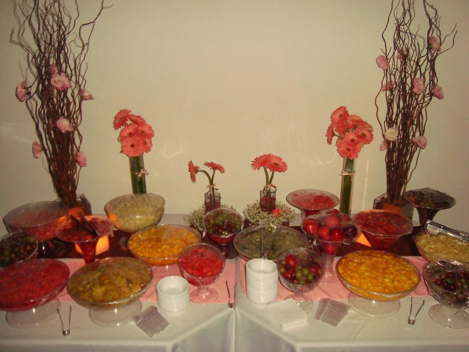 mesa de frutas decoração de 15 anos decoração de casamento