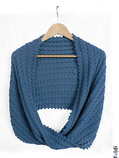 machine knitted passap infinity scarf cowl wrap