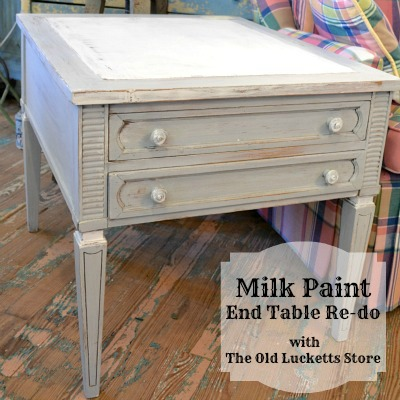 Milk Paint End Table Tutorial