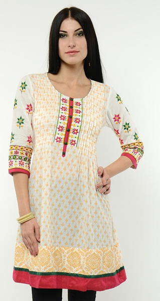 Crosia Designs Kurtis Knitted Kurtis Krosha Work - Clothing9 ...