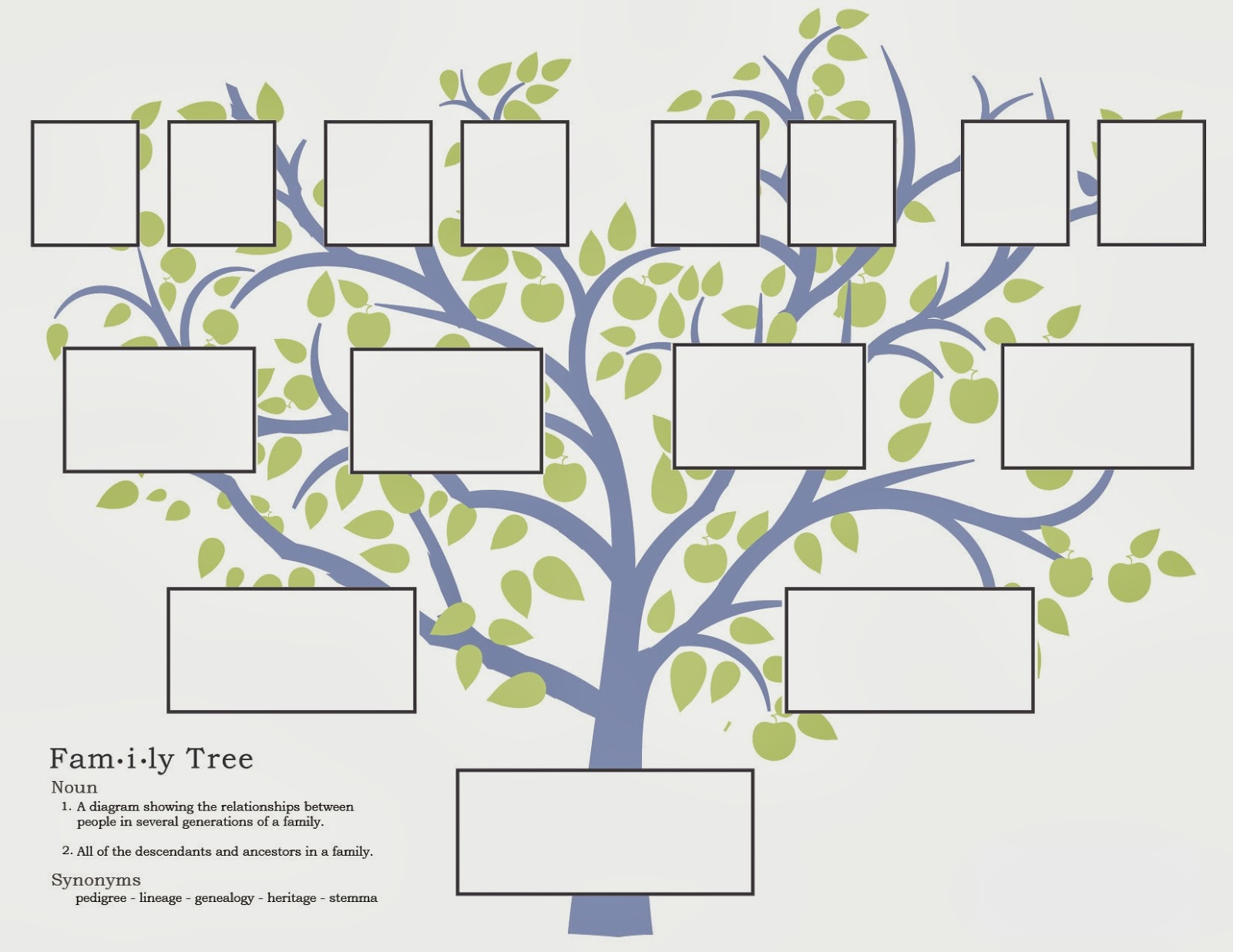 my family tree template