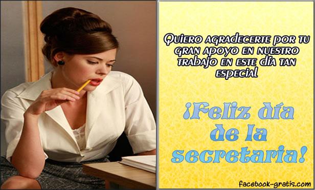 Tarjeta para las secretarias