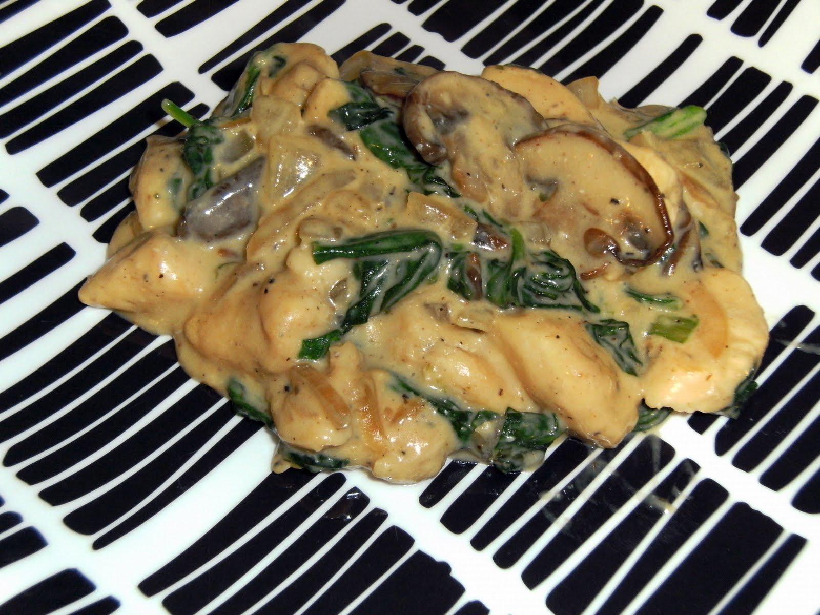 Bye Bye Pounds!: Spinach & Mushroom Chicken Alfredo