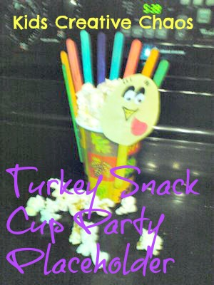 Turkey Snack Cup Easy Kids Thanksgiving Turkey Craft