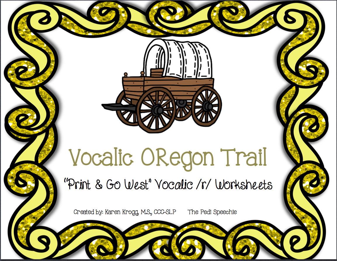 The Pedi Speechie Enter To Win Vocalic ORegon Trail Print – Vocalic R Worksheets