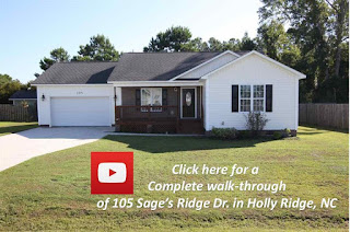 Virtually walk through 105 Sage's Ridge Drive in Holly Ridge, NC