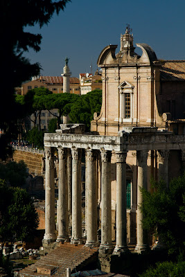 The Temple of Antoninus & Faustina - Rome, Italy