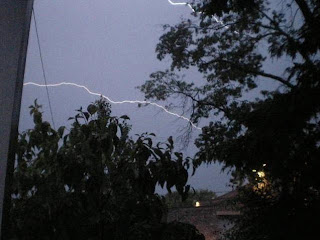 Anatomy of a lightning strike frame 15: As the bottom bolt subsides, the initial lightening bolt at the top re-intensifies and appears again after disappearing totally...