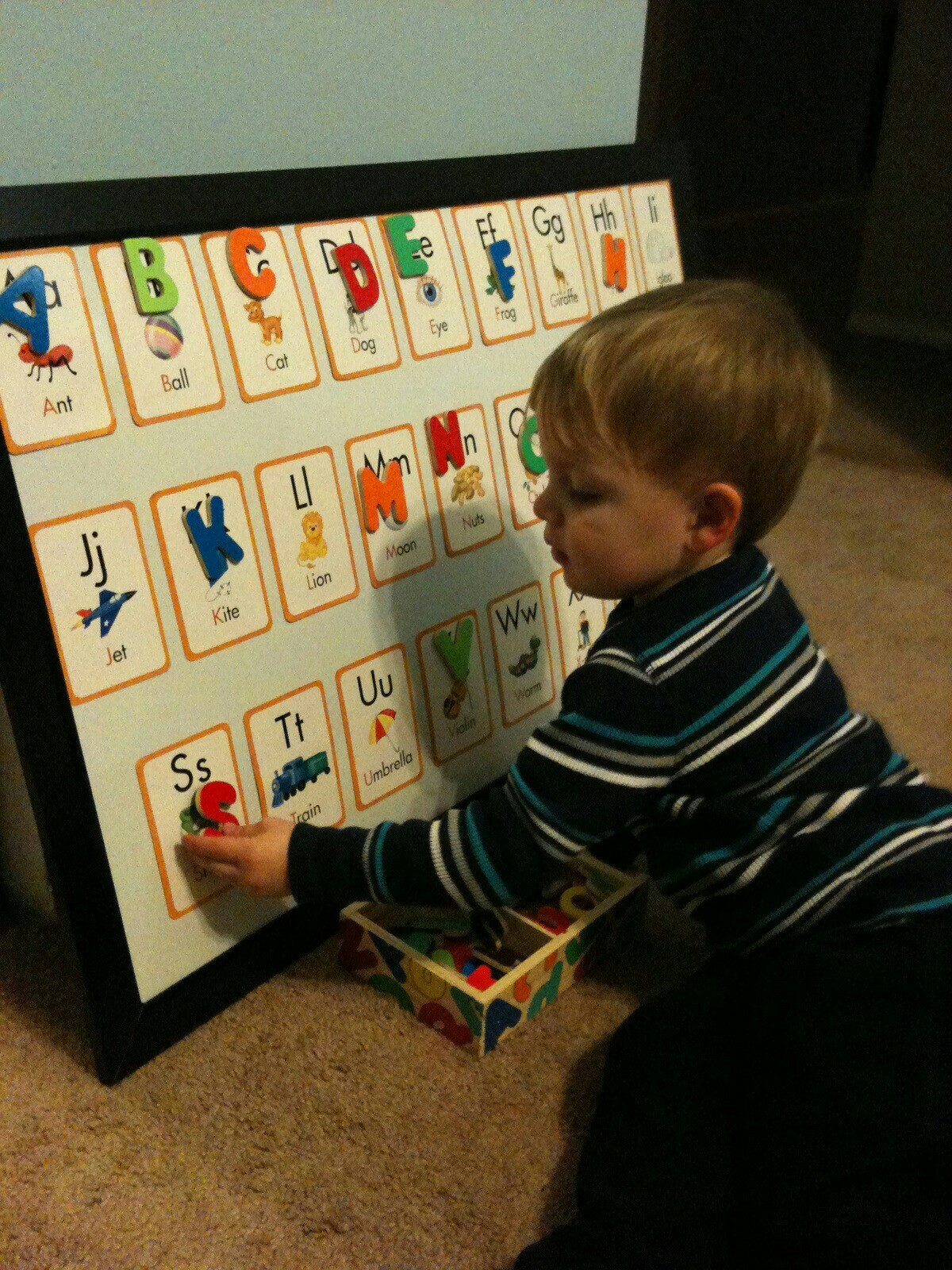 For the Love of Learning DIY Alphabet Learning Board