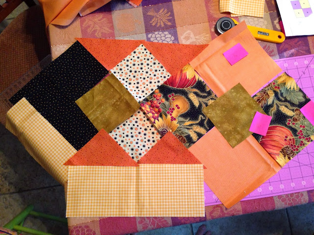 fall fabric runner layout