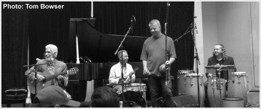 Chicago Jazz Festival (2015) The Paulinho Garcia Quintet is Paulinho Garcia (guitar and vocals), Heitor Garcia (percussion), Geraldo de Oliveira (percussion), Dedé Sampaio (drums), and Greg Fishman (saxophone)