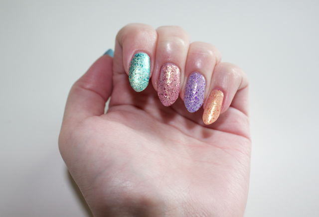 Deborah Lippmann nail polish review swatches Mermaids Collection Mermaid's Dream Mermaid's Eyes Do The Mermaid Mermaid's Kiss Million Dollar Mermaid