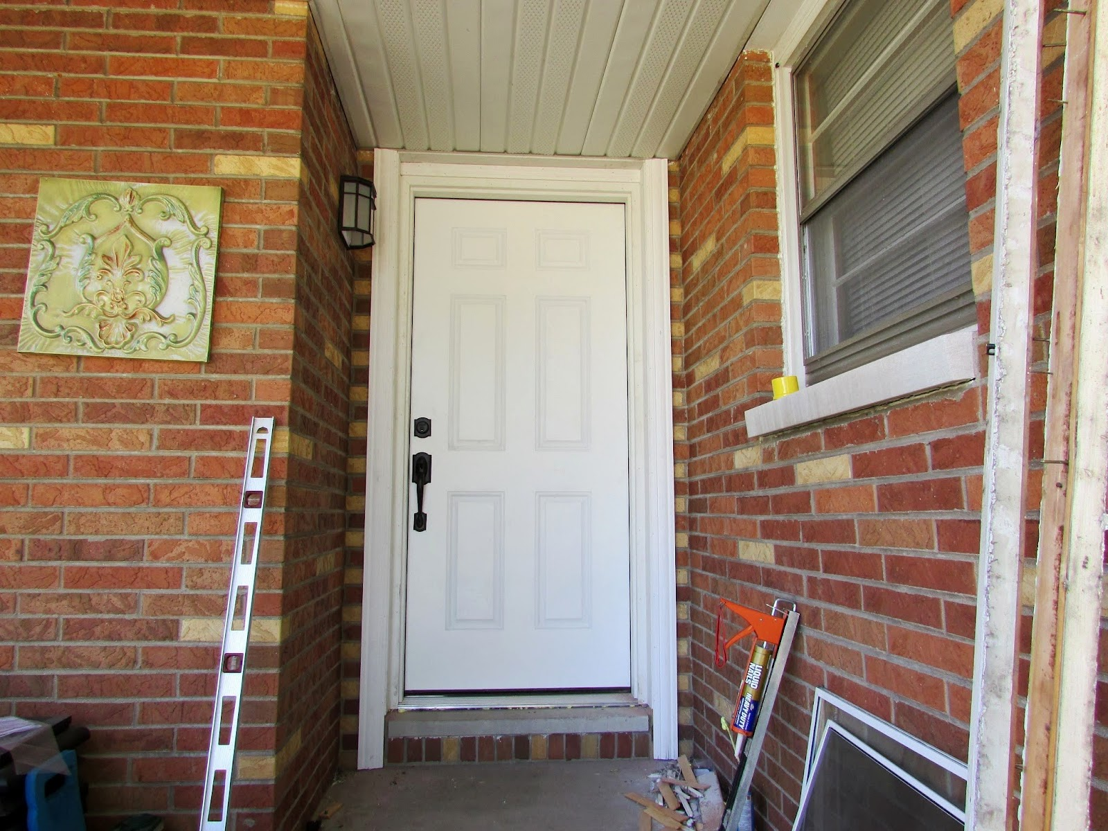 Installing a new front door diy project rustic refined for Installing brick molding for exterior doors