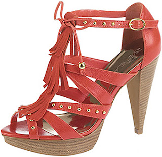 högklackade sandaler