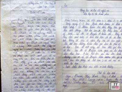 Nội dung đơn tố cáo của gia đình nạn nhân và bản tường trình của 22 học sinh lớp 7D