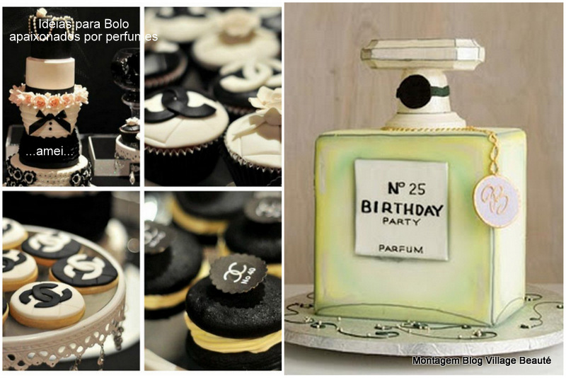perfumes chanel bolo de aniversário