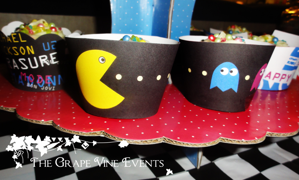 The grape vine events 80s themed birthday party for 80 s table decoration ideas