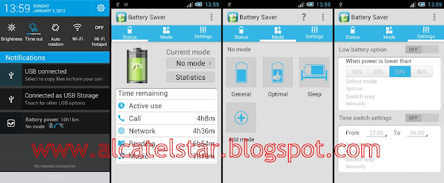 battery saver alcatel star idol