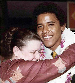 Obama with his grandmother in Hawaii