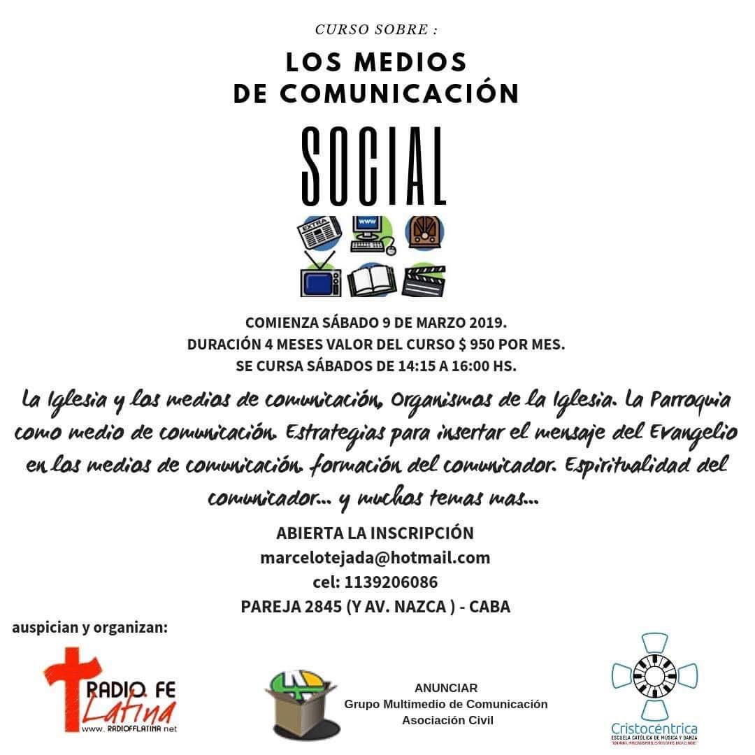 CURSO SOBRE LOS MEDIOS DE COMUNICACION SOCIAL
